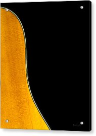 Acoustic Curve In Black Acrylic Print by Bob Orsillo