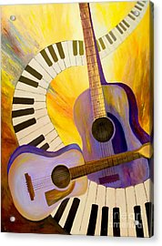 Acoustics In Space Acrylic Print by Larry Martin