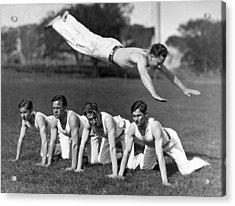 Acrobatic Swandive Acrylic Print by Underwood Archives