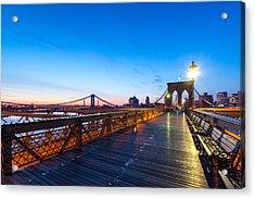 Across The Bridge Acrylic Print by Daniel Chen