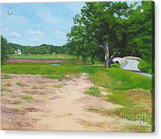 Across The Sudbury River Concord Massachusetts Acrylic Print by Rosemarie Morelli