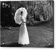 Actress Dolores Del Rio Acrylic Print by Underwood Archives