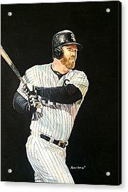 Adam Dunn - Chicago White Sox Acrylic Print by Michael  Pattison