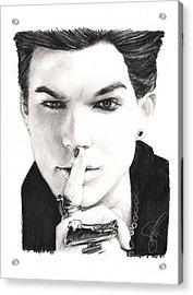 Adam Lambert Acrylic Print by Rosalinda Markle