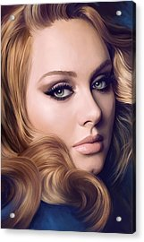 Adele Artwork  Acrylic Print by Sheraz A