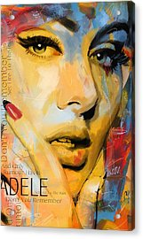 Adele Acrylic Print by Corporate Art Task Force