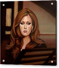Adele Acrylic Print by Paul Meijering