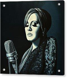 Adele Skyfall Painting Acrylic Print by Paul Meijering