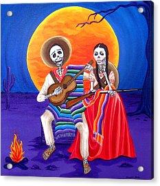 Adelita Acrylic Print by Evangelina Portillo