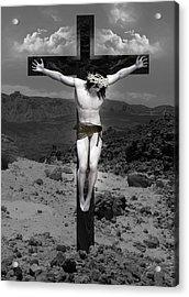 Jesus Christ Intact Acrylic Print by Quim Abella
