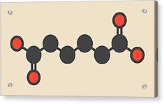 Adipic Acid Nylon Building Block Molecule Acrylic Print by Molekuul