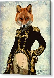 Admiral Fox Full Acrylic Print by Kelly McLaughlan