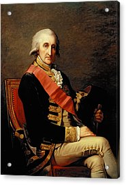 Admiral George Brydges Rodney Acrylic Print by Jean Laurent Mosnier