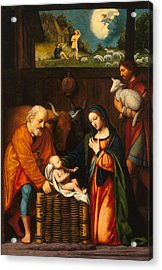 Adoration Of The Christ Child  Acrylic Print by Celestial Images