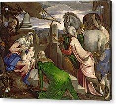 Adoration Of The Magi Acrylic Print by Jacopo Bassano