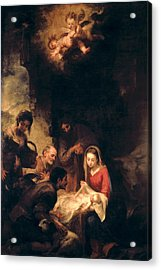 Adoration Of The Shepherds Acrylic Print by Bartolome Esteban Murillo