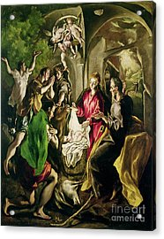 Adoration Of The Shepherds Acrylic Print by El Greco Domenico Theotocopuli