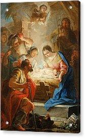 Adoration Of The Shepherds Acrylic Print by Mariano Salvador de Maella