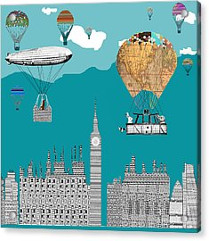 Adventure Days London Acrylic Print by Bri B