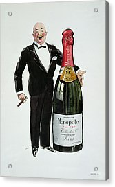 Advertisement For Heidsieck Champagne Acrylic Print by Sem