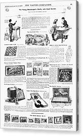 Advertisement Toys, 1890 Acrylic Print by Granger
