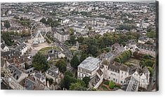 Aerial Chartres Acrylic Print by Olivier Le Queinec