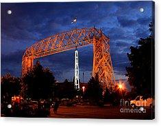 Aerial Lift Bridge Acrylic Print by Lori Tordsen