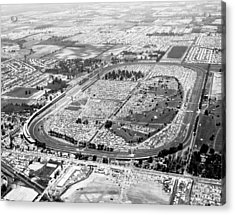 Aerial Of Indy 500 Acrylic Print by Underwood Archives