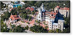 Aerial View Of A Castle On A Hill Acrylic Print by Panoramic Images