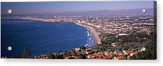 Aerial View Of A City At Coast, Santa Acrylic Print by Panoramic Images