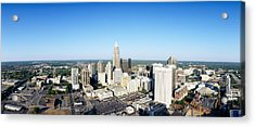 Aerial View Of A City, Charlotte Acrylic Print by Panoramic Images