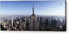 Aerial View Of A Cityscape, Empire Acrylic Print by Panoramic Images
