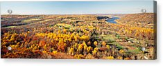 Aerial View Of A Landscape, Delaware Acrylic Print by Panoramic Images