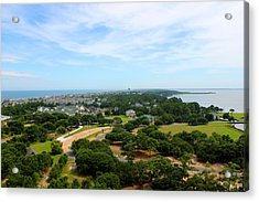 Aerial View Of Corolla North Carolina Outer Banks Obx Acrylic Print by Design Turnpike