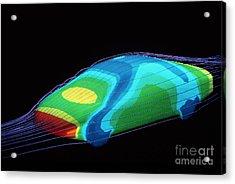 Aerodynamics In Car Design Acrylic Print by Hank Moragn