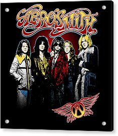 Aerosmith - 1970s Bad Boys Acrylic Print by Epic Rights