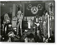 Aerosmith - Aerosmith Tour 1973 Acrylic Print by Epic Rights