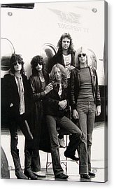 Aerosmith - Eurofest Jet 1977 Acrylic Print by Epic Rights