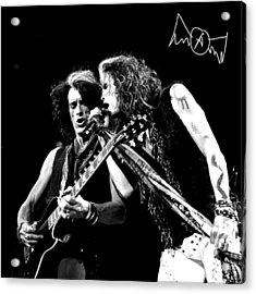 Aerosmith - Joe Perry & Steve Tyler Acrylic Print by Epic Rights