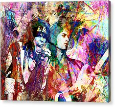 Aerosmith Original Painting Acrylic Print by Ryan Rock Artist