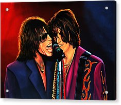Aerosmith Toxic Twins Painting Acrylic Print by Paul Meijering