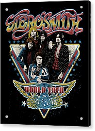 Aerosmith - World Tour 1977 Acrylic Print by Epic Rights