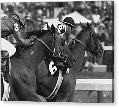 Affirmed Horse Racing Vintage Acrylic Print by Retro Images Archive