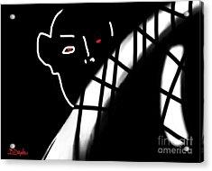 Afraid Of The Dark Acrylic Print by Barbara Drake