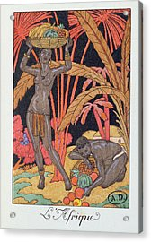 'africa' Illustration For A Calendar For 1921 Acrylic Print by Georges Barbier
