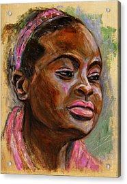 African American 3 Acrylic Print by Xueling Zou