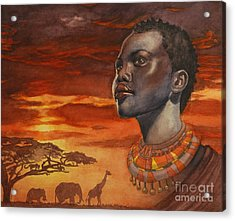 African Dream Acrylic Print by Isabella Kung
