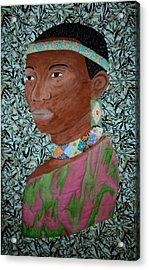 African Queen Acrylic Print by Linda Egland