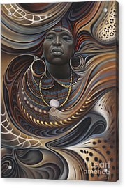 African Spirits I Acrylic Print by Ricardo Chavez-Mendez