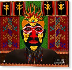 African Tribesman 1 Acrylic Print by Bedros Awak